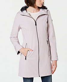Calvin Klein Petite Hooded Raincoat
