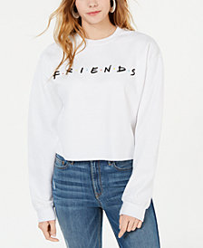 Love Tribe Juniors' Friends Logo Cropped Graphic Sweatshirt