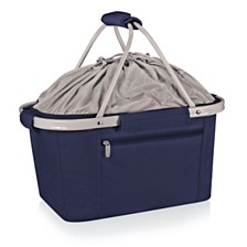 Oniva™ by Picnic Time Metro Navy Basket Collapsible Cooler Tote
