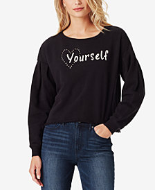 Jessica Simpson Juniors' Dasha Cotton Love Yourself Top