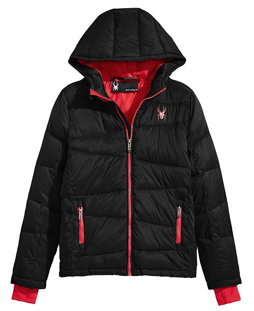 Spyder Big Boys Nexus Hooded Puffer Jacket