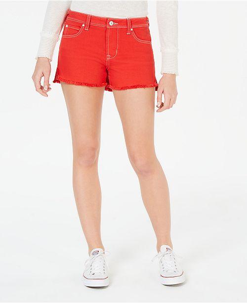 Celebrity Pink Juniors' Color-Wash Frayed Shorts