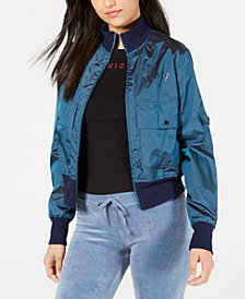 Juicy Couture Iridescent Bomber Jacket