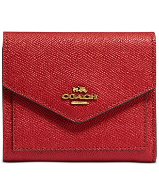 Coach Small Wallet In Crossgrain Leather Handbags Accessories