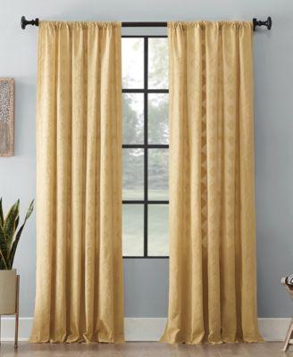 "Diamond Fray Cotton Curtain, 50"" W x 84"" L"