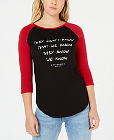 Love Tribe Juniors' Cotton Friends Graphic-Print T-Shirt