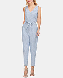 Vince Camuto Striped Linen Jumpsuit