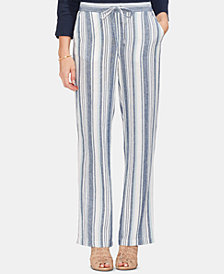 Vince Camuto Beach Stripe Linen Drawstring Pants