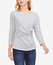Vince Camuto Crisscross Long-Sleeve Top
