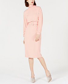 LEYDEN Natasha Belted Sweater Dress