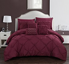 Hannah 10 Piece Queen Comforter Set