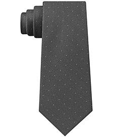 Calvin Klein Men's Sable Slim Pindot Silk Tie