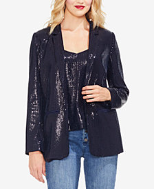 Vince Camuto Open-Front Sequin Blazer