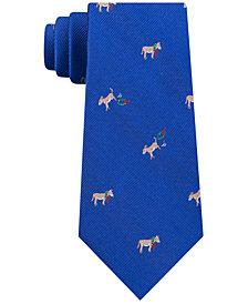 Tommy Hilfiger Men's Holiday Donkey Slim Silk Tie