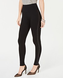 I.N.C. Shaping Studded Leggings, Created for Macy's