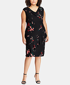 Lauren Ralph Lauren Plus Size Ruffle-Trim Floral-Print Dress
