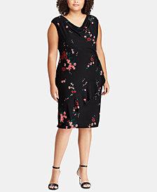 Lauren Ralph Lauren Plus Size Ruffle-Trim Floral-Print Dress
