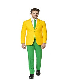 OppoSuits Men's Green and Gold Australian Suit