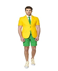 OppoSuits Men's Summer Green and Gold Australian Suit