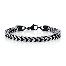 6mm Franco Chain Stainless Steel Bracelet, 8.5""