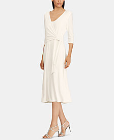 Lauren Ralph Lauren Faux-Wrap Midi Dress