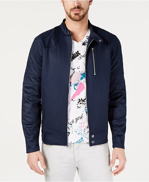 INC International Concepts I.N.C. Men's Zip-Front Fight Jacket, Created for Macy's