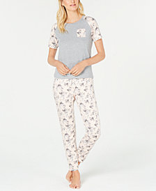 Flora by Flora Nikrooz Knit Top & Pants Pajama Set