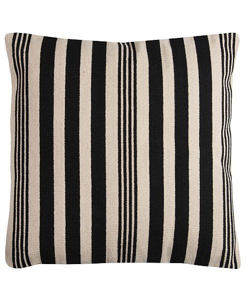 """Rizzy Home 24"""" x 24"""" Striped Pillow Cover"""