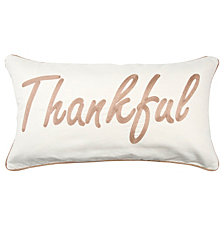 """Rizzy Home 14"""" X 26"""" Typography Pillow Cover"""