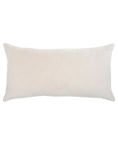 """Rizzy Home Donny Osmond 14"""" x 26"""" Geometrical Design Down Filled Pillow"""
