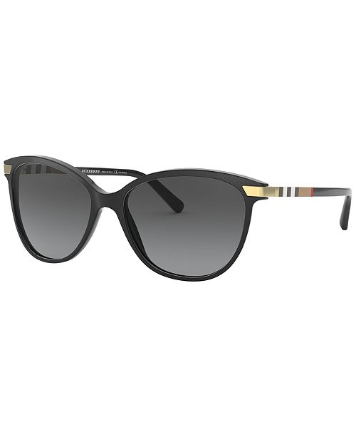 64a459ef21 Burberry Polarized Sunglasses, BE4216 57 & Reviews - Sunglasses by ...