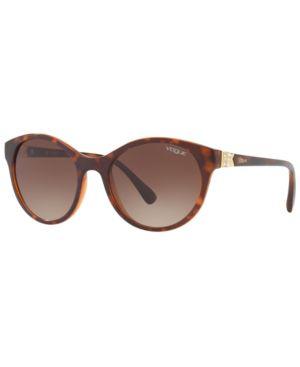 VOGUE Eyewear Sunglasses, Vo5135Sb 52 in Top Dark Havana/Light Brown/ Brown Gradient