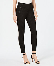 Anne Klein Pinstriped Pull-On Skinny Pants