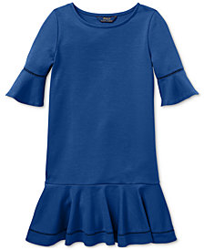 Polo Ralph Lauren Big Girls Ponté-Knit Inset-Lace Dress