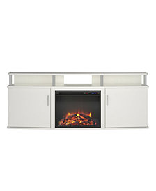 Ameriwood Home Delmar Electric Fireplace TV Console