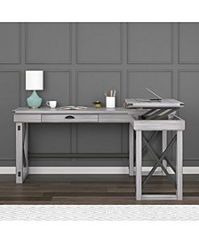 Ameriwood Home Broadmore L Shaped Desk with Lift Top