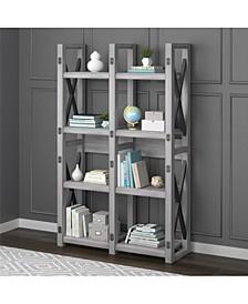 Broadmore Wood Veneer Bookcase/ Room Divider