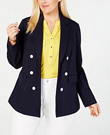 Charter Club Plus Size Knit Blazer, Created for Macy's