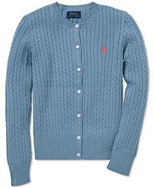 Polo Ralph Lauren Big Girls Cable-Knit Cotton Cardigan