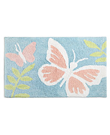 "Martha Stewart Collection Butterfly 21"" x 34"" Bath Rug, Created for Macy's"