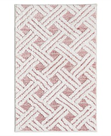"CLOSEOUT! High Low Lattice 20"" x 30"" Bath Rug, Created for Macy's"