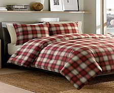Navigation Plaid Red Full/Queen Comforter Set