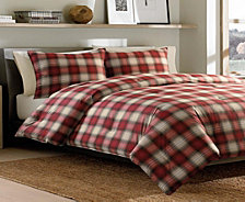 Eddie Bauer Navigation Plaid Red Full/Queen Comforter Set
