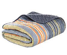 Eddie Bauer Yakima Valley Stripe Persimmon Quilted Throw