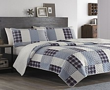Camano Island Plum Wine King Quilt Set