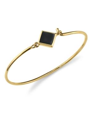 2028 14K Gold Dipped Diamon Shape Enamel Wire Bracelet