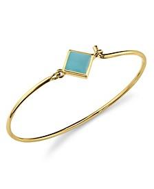 14K Gold Dipped Diamon Shape Enamel Wire Bracelet