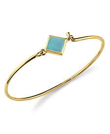 2028 14K Gold Dipped Diamon Shape Enamel Wire Bracelet