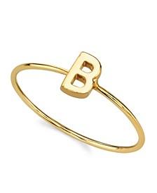 14K Gold Dipped Initial Ring