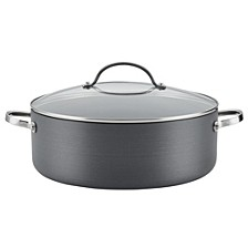 Professional Hard-Anodized Nonstick 7.5 Quart Covered Stockpot